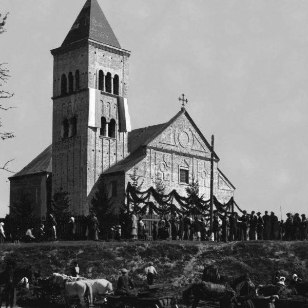 Освячення костелу св.Аргентина у Цумані. Фото 1936 року.