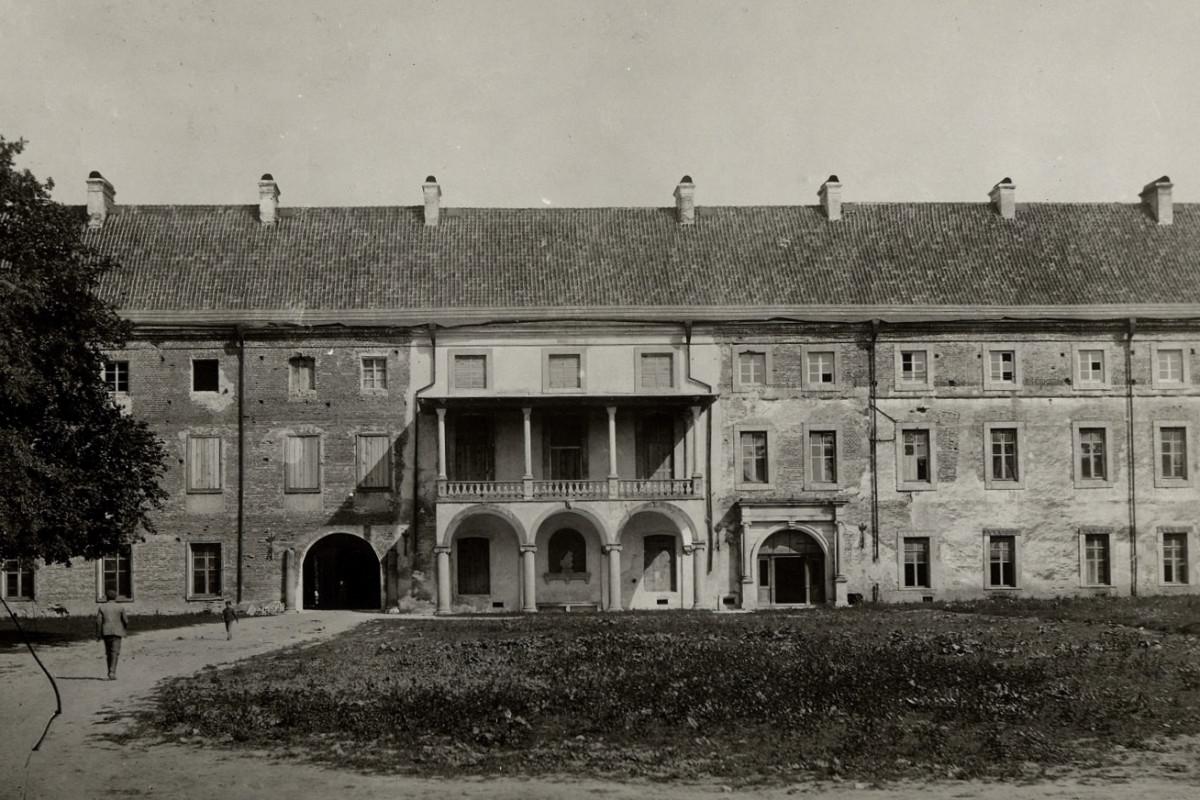 Внутрішній двір замку Радзивіллів. Парадний фасад. 1930-ті рр.